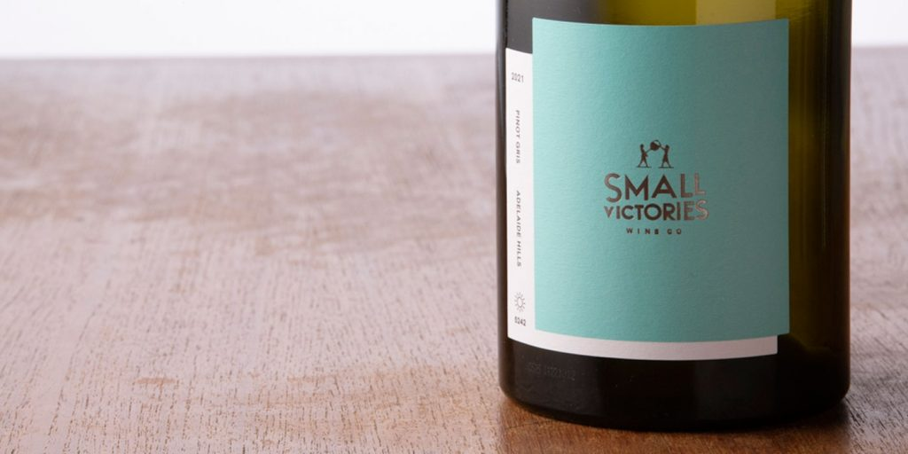 Small Victories Wine Co Pinot Gris close up