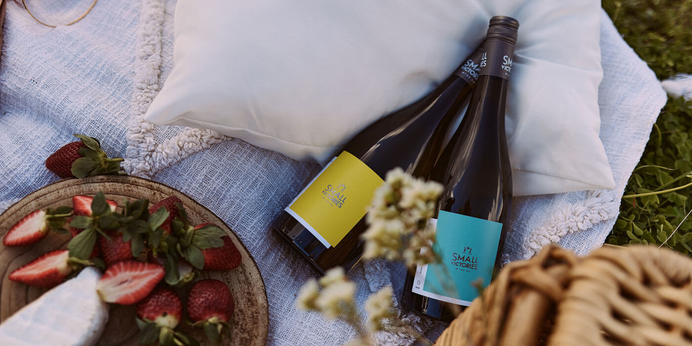 Small Victories Wine Co Vermentino and Pinot Gris picnic