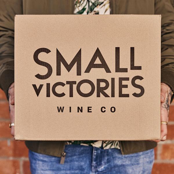 Small Victories Wine Co carton